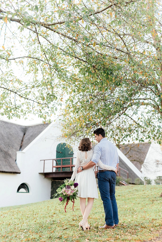 Whimsical Garden Engagement {Debbie Lourens Photography}