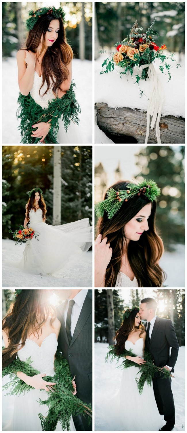 Winter Bride Snow Wedding Ideas - Ashley Rae Photography