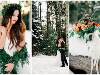 Winter Bride Snow Wedding Ideas - Ashley Rae Photography