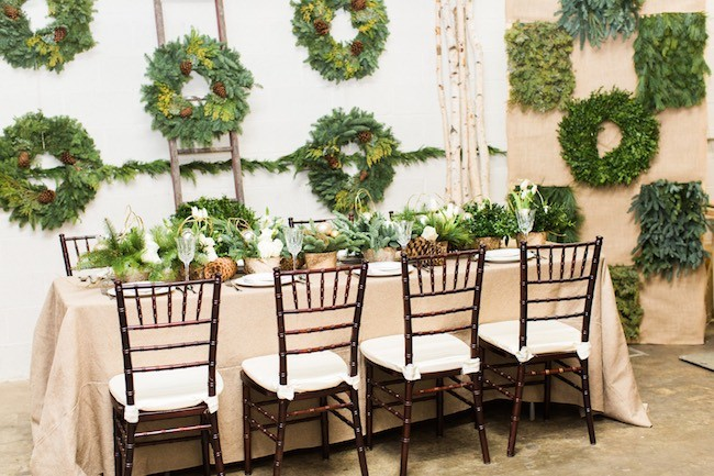 Winter Holiday Wedding Tablescape Ideas Natural49