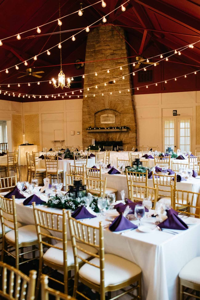 Wonderfully Woodsy Winter Wedding in Purple and Green - Ctg Photography