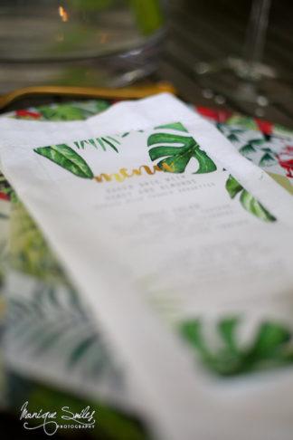 Green and gold botanical wedding