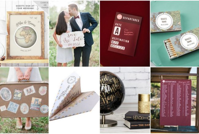 20 Stealworthy + Affordable Travel Themed Wedding Ideas
